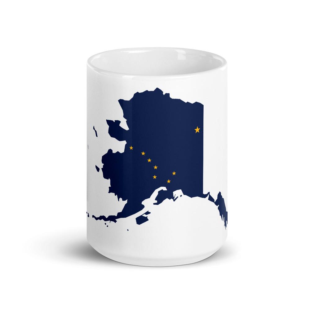 Alaska State Flag Coffee Mug 11oz 15oz Kenai Backcountry Adventures Store